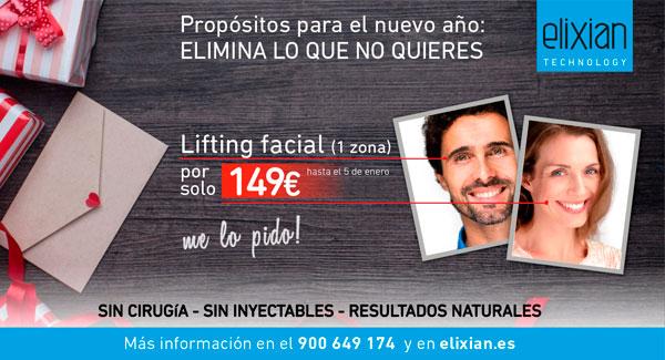Promoción de Navidad para tratamientos faciales